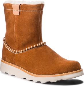 Buty dziecięce zimowe Clarks ze skóry