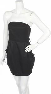 Czarna sukienka H&M mini gorsetowa bez rękawów