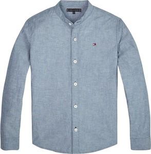 Niebieska koszula dziecięca Tommy Hilfiger dla chłopców