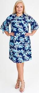 Sukienka Fokus w stylu casual z okrągłym dekoltem dla puszystych