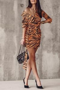 Sukienka IVET maxi z długim rękawem