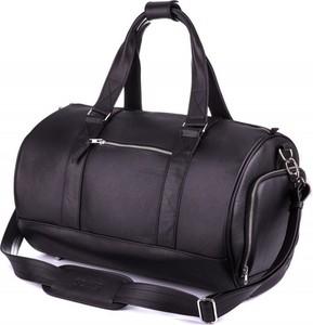 8da7fb208baf5 damska torba podróżna. Czarna torba podróżna Solier ze skóry