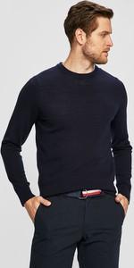 Granatowy sweter Tommy Hilfiger Tailored z wełny