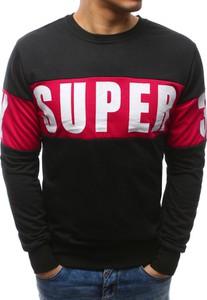 Dstreet bluza męska z nadrukiem czarna (bx3462)