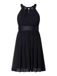 Czarna sukienka Jake*s Cocktail z satyny rozkloszowana mini