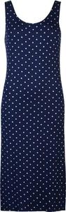 Niebieska sukienka Full Circle z okrągłym dekoltem midi prosta
