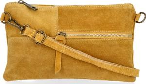 Żółta torebka VITTORIA GOTTI ze skóry mała