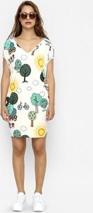 Sukienka Freeshion w stylu casual mini z krótkim rękawem