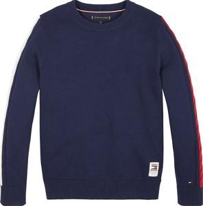 Czarny sweter Tommy Hilfiger z bawełny