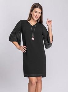 Sukienka Semper prosta mini z długim rękawem