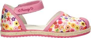 Buty dziecięce letnie Primigi na rzepy w kwiatki ze skóry