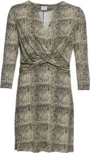 Sukienka bonprix BODYFLIRT w stylu casual z dżerseju z dekoltem w kształcie litery v