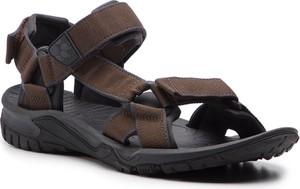 Brązowe buty letnie męskie Jack Wolfskin w stylu casual