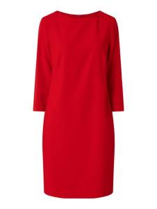 Czerwona sukienka Windsor z długim rękawem