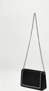 Czarna torebka Moodo średnia na ramię w stylu glamour