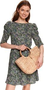 Sukienka Top Secret z długim rękawem w stylu casual z okrągłym dekoltem