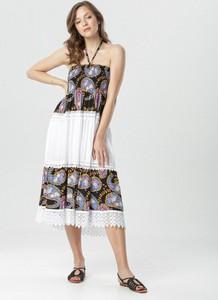 Sukienka born2be z okrągłym dekoltem trapezowa
