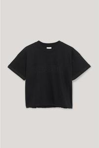 T-shirt Sprandi z krótkim rękawem z okrągłym dekoltem w stylu casual