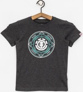 Brązowa koszulka dziecięca Element z bawełny