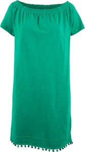 Zielona sukienka bonprix bpc bonprix collection midi hiszpanka