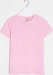 Różowy t-shirt Asos