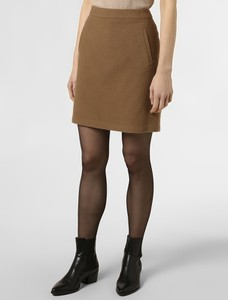 Brązowa spódnica Marie Lund w stylu casual z wełny