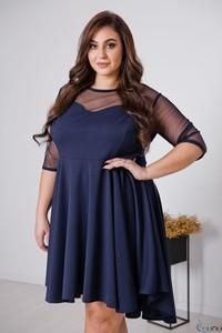 Sukienka tono.sklep.pl mini z okrągłym dekoltem z tiulu