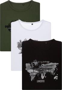 T-shirt LANCERTO z nadrukiem w młodzieżowym stylu