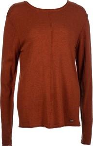Brązowy sweter Tigha z okrągłym dekoltem