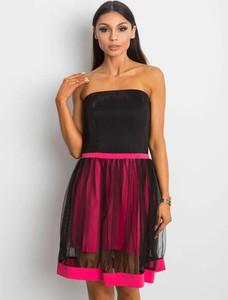 Sukienka Factory Price z tiulu gorsetowa bez rękawów