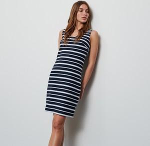 Granatowa sukienka Reserved mini w stylu casual bez rękawów