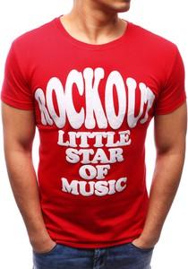 Czerwony t-shirt dstreet z krótkim rękawem w młodzieżowym stylu