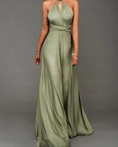 Zielona sukienka Kendallme bez rękawów z dekoltem w kształcie litery v maxi