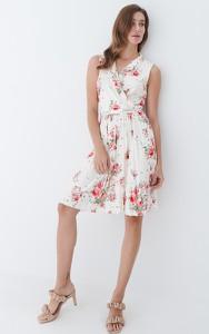 Sukienka Mohito trapezowa bez rękawów z dekoltem w kształcie litery v
