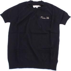 Czarna bluzka dziecięca Twinset z bawełny