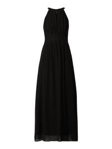 Czarna sukienka Vila bez rękawów prosta z dekoltem halter