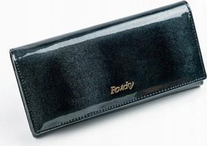 Granatowy portfel Rovicky ze skóry