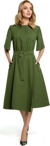 Sukienka Made Of Emotion z długim rękawem z okrągłym dekoltem