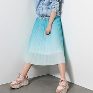Turkusowa spódnica Reserved midi w stylu klasycznym
