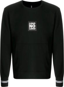 Czarny sweter Neil Barrett w młodzieżowym stylu z okrągłym dekoltem