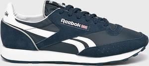 Granatowe buty sportowe Reebok Classic z zamszu sznurowane