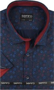 Niebieska koszula Sefiro w młodzieżowym stylu z tkaniny