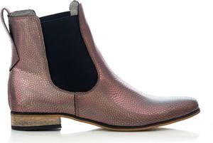 Brązowe botki Zapato z płaską podeszwą