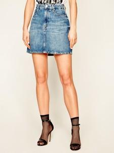 Niebieska spódnica Calvin Klein mini w stylu casual