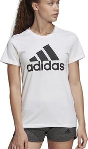 Bluzka Adidas z okrągłym dekoltem z bawełny w sportowym stylu