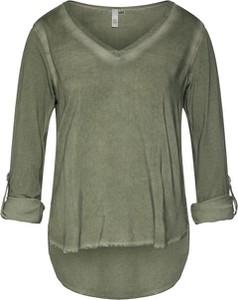 Zielona bluzka Q/s Designed By - S.oliver w stylu casual z długim rękawem