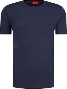 T-shirt Hugo Boss w stylu casual z bawełny z krótkim rękawem