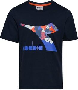 Koszulka dziecięca Diadora z bawełny