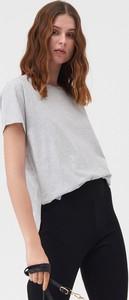T-shirt Sinsay w stylu casual z krótkim rękawem z okrągłym dekoltem