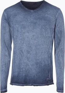 Niebieska koszulka z długim rękawem solid